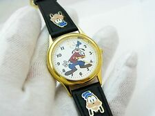 GOOFY,Pedre,(Mickey Mouse Friend) Ultra RARE,w/Emblems on Band,MENS WATCH R11-12