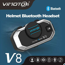 BT Bluetooth V8 Motorcycle Helmet Interphone Intercom Headset Cellphone Rider x1