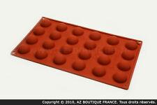 Paderno  Moule demi-sphère | Moule flexible en silicone - 24 demi-sphères