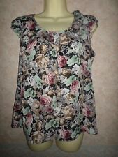 DOROTHY PERKINS FLORAL TOP WITH BOW DETAIL ON THE SHOULDER SIZE 14