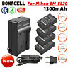 NEW 4x Battery+USB Charger Kit for Nikon EN-EL20 ENEL20A Coolpix P1000 Camera WM