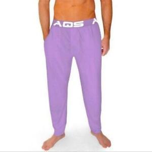 NEW AQS sz M Unisex Loungewear Elastic Waist Pants Lavender