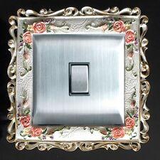Individual Precioso Resina Interruptor Marco Enchufe Dedo Panel  Placa