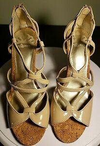 Fergalicious by Fergie Hi Heel Hess-T Shoe Size 7.5 M Taupe