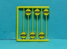 Ho Scale Tichy Train Group Scenery Accessories 6 Pcs Early Yellow Stop Signs 4Ho