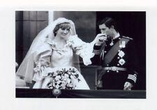 mm94 - Princess Diana as bride &  Prince Charles on balcony - Royalty photo 6x4