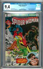 "Spider-Woman #37 (1981) CGC 9.4 White Pages  Claremont  1st ""Siryn"" ""NEWSSTAND"""