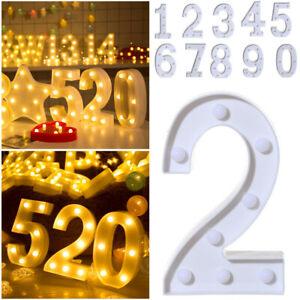 Alphabet LED Digital Lights Light Up White Plastic Digital Standing Hanging Tc l