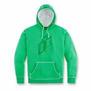 3051-0709 - GREEN ICON DOUBLE UP GRAPHIC HOODIE