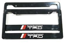 TRD Racing Black Metal License Plate Frame For Toyota Tundra Tacoma 4Runner