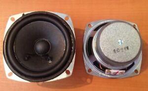 """2 x Speakers 3"""" Square 25W 6 Ohm Pair of Speakers Audio, Hifi, Speaker Unit, DIY"""