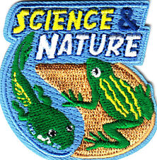 """""""SCIENCE & NATURE """" -SCHOOL - LEARNING - ECOLOGY - Iron On Embroidered Patch"""