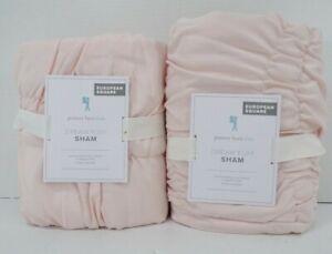 Pottery Barn Kids Pearl Microfiber Dream Puff Sham Euro S/2 Pink #9924