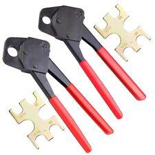 "1/2"" & 3/4"" Pex Crimpers Set Plumbing Crimping Tool Copper Ring Gonogo Gauge Red"