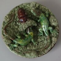 Mafra Palissy Majolica Lizard Plate