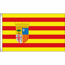 Aragon Flag Large 5 x 3' - Spain Spanish Region Province Espana Football