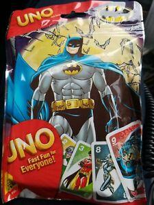 UNO Batman Card Game Superhero 2012 Bag. New in package