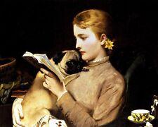 "Charles Burton Barber donne lettura con Pug - 24 ""TELA"