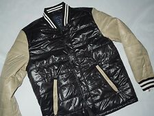 American Eagle AE mens varsity Black puffer insulated winter Jacket LARGE