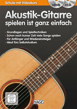HAGE Akustik-Gitarre spielen ist ganz einfach +CD/DVD! Schule Videokurs (EH3837)