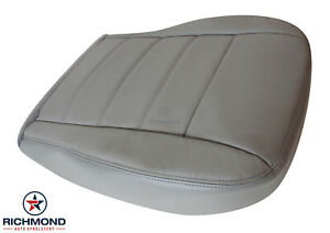 06-10 Dodge Charger Daytona HEMI 5.7L-Driver Side Bottom Leather Seat Cover Gray