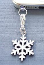 Christmas Snowflake cell phone Charm AntiDust proof Plug ear cap cover jack C172