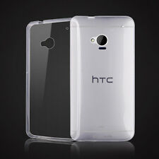 For HTC One M7 Ultra Thin Clear Invisible Gel skin case cover