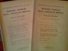 MEMORIE STORICHE DELLA DIOCESI DI BRESCIA - annata completa 1964  sotto i titoli