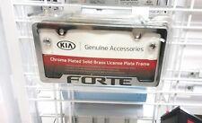 Kia Forte Chrome License Plate Frame UR010-AY100UC Kia OEM 50 State Certified