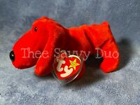 """1996 """"Rover"""" The Red Dog TY Beanie Baby Beanie Babies Collection PVC No Stamp"""