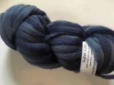 Living Dreams Super Zippy #Denim Hand Dyed Super Bulky Wool Roving Yarn 4oz 60yd