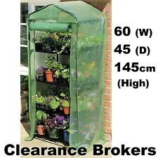 NEW 4 Tier Mini Portable Greenhouse Green Hot House Shed w Shelving & PE Cover
