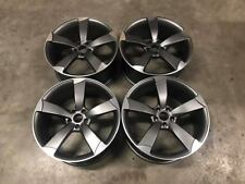 "19"" TTRS Rotor Style Alloy Wheels - Gun Metal Machined - Audi A4 A6 A8 5x112"