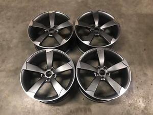 "19"" TTRS Rotor Style Alloy Wheels - Gun Metal Machined - Audi A4 A6 A8 5x112"