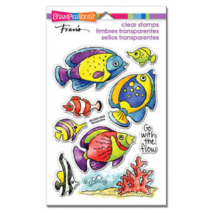 FISH TROPICAL OCEAN GO FISH CLEAR Rubber Stamp Set STAMPENDOUS SSC2029 New