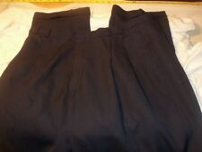 dockers dress slacks 38 x 33 pleated & cuffed 65% dacron polyester 35% wool #405