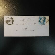 """Napoléon N° 14Ai Line D Surround Variety to """" T """") Letter Cover PC 72 Angers"""