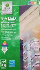 Home Accents - Dual Function Garland Lights | Cool White/Multi-Color-Change NEW