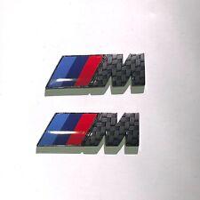 2 x CARBON FIBRE //M Sport Small Emblem M Power Badge BMW Side Wing Badges UK