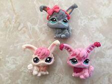 Littlest Pet Shop RARE Angora Bunny 2132 1894 993 CandyStripe Pink Christmas Lot