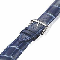 BLUE GENUINE LEATHER Crocodile Strap Band for Apple Watch 38mm 40mm 42mm 44mm
