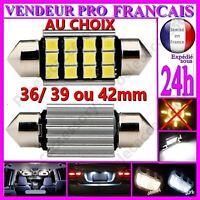 AMPOULE NAVETTE LAMPE A LED SMD C5W ANTI ERREUR FEU XENON 36 39 42MM BLANCHE 12V