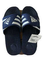 🔥🔥MEN'S ADIDAS ADISSAGE MASSAGING SPORT SANDALS SIZE 12M NEW NAVY / WHITE NWT