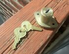 The Spartan Works Drawer Lock Brass Plated & 2 Keys 0711 with Box NOS FREE SHIP!