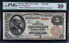 1881 National Bank Note Seneca Falls NY PMG 25 Brown Back CH# 3329 Fr. 467