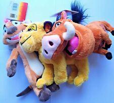 THE LION KING SIMBA PLUSH TOY SOFT STUFFED 7'' PUMBAA TIMON DISNEY OFFICIAL ANIM