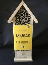 "New Bambeco Bee House Bee Kind To Friendly Bees 12"" - 100% Wood"
