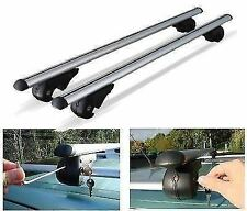 120mm UNIVERSAL CAR ROOF AERO BARS RACK ALUMINIUM LOCKING CROSS RAILS