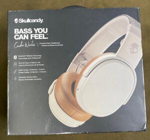 Skullcandy Crusher S6CRW (S6CRWK590) White Wireless Headband Headphones...NEW!!
