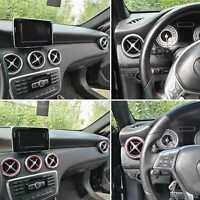 5x Anelli Sfiati Aria Condizionata Adesivi ROSSI Mercedes Classe A B CLA GLA